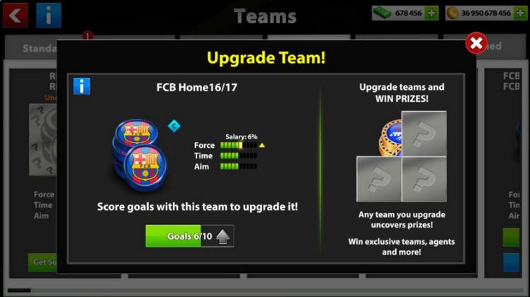 team upgrade